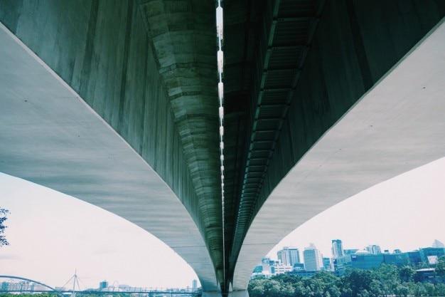 Estrutura da ponte de concreto