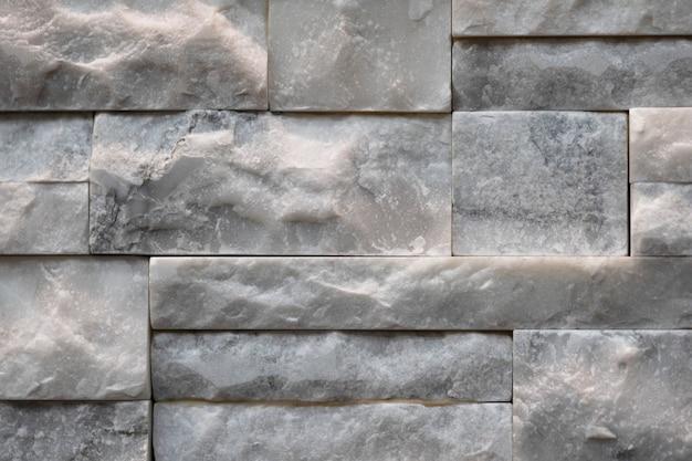 Estrutura de parede de pedra calcária em mármore empilhado