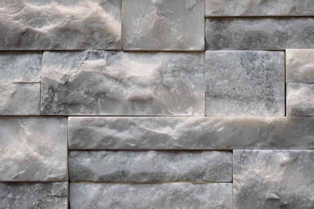 Estrutura de parede de pedra calcária empilhada