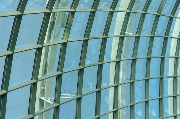 Estrutura de telhado em vidro