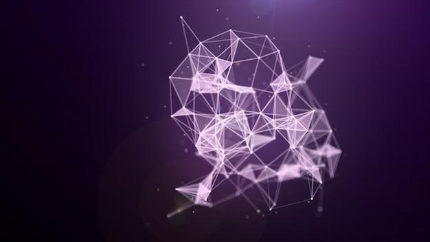 Estrutura do plexo evoluindo em movimento orgânico, fundo de movimento científico