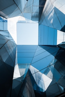 Estrutura geométrica de cristais azuis