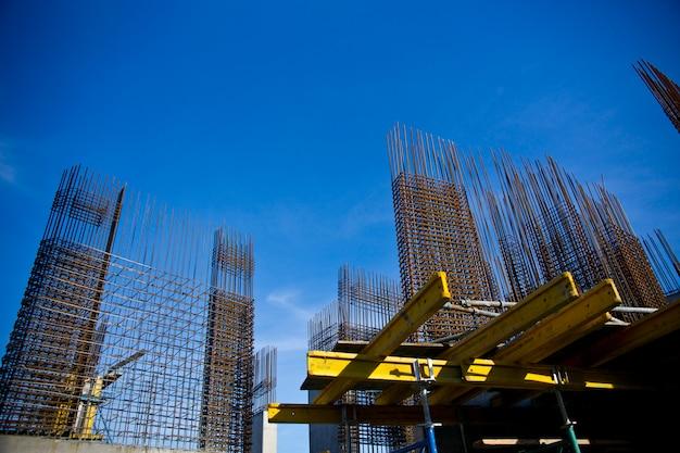Estrutura metálica de um edifício