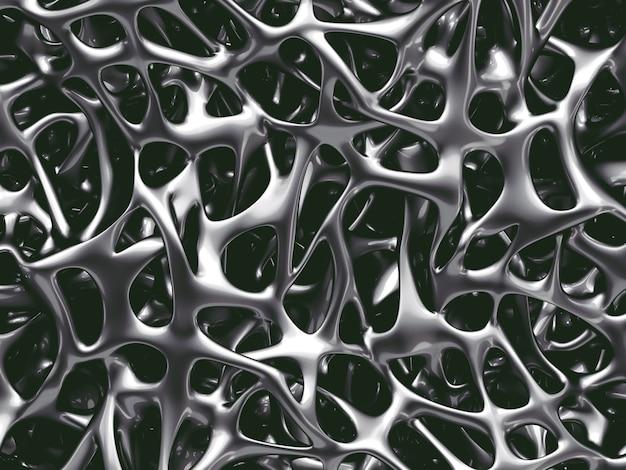 Estrutura óssea metálica