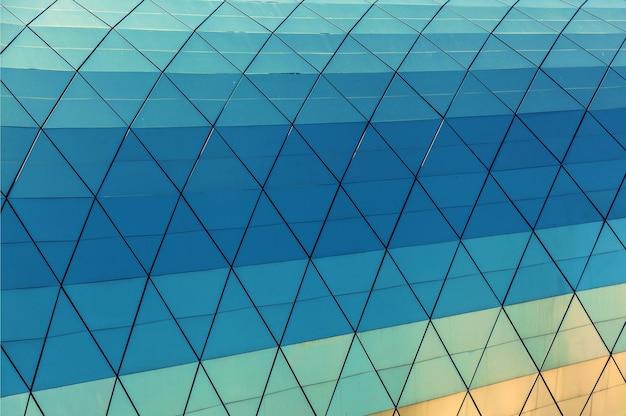 Estruturas de construção de close-up da arquitetura urbana moderna, tbilisi, geórgia. textura de vidro da geórgia tbilisi.
