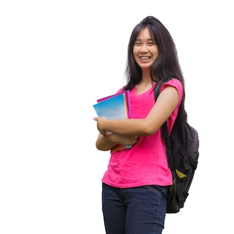 Estudante asiática