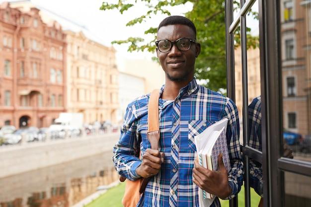 Estudante universitário africano