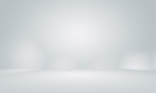Estúdio cinzento vazio liso bem uso como o fundo.