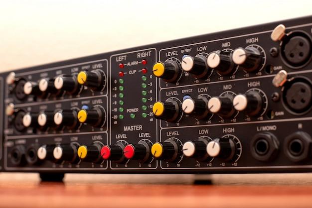 Estúdio de áudio de música amplificador