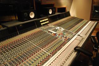 Estúdio de gravação, misturador