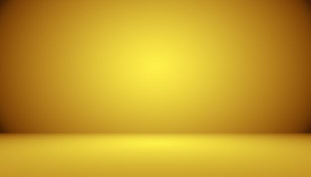 Estúdio de ouro de luxo abstrato que pode ser usado como plano de fundo e apresentação