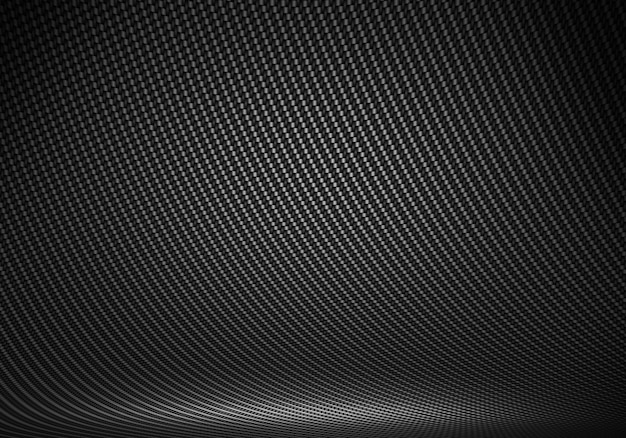 Estúdio interior texturizado de fibra de carbono preto com lig direcional