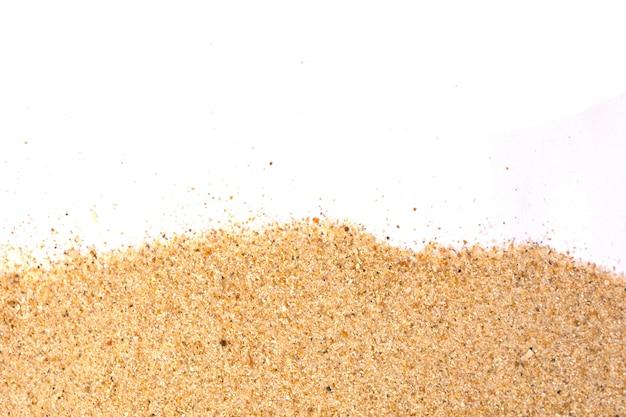 Estúdio isolado de areia close-up, filmado em branco