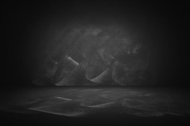 Estúdio preto e lousa e fundo interior para apresentar o produto