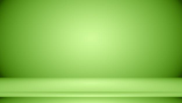 Estúdio verde vazio para usar como modelo de site de plano de fundo para relatório de negócios