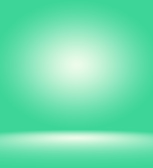 Estúdio verde vazio para usar como quadro de modelo do site de fundo