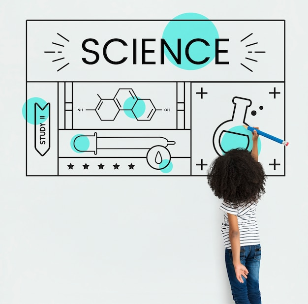 Estudo de experimento de assunto de conceito de ciência