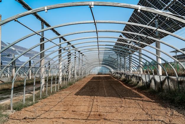 Estufa vegetal na base da produção rural