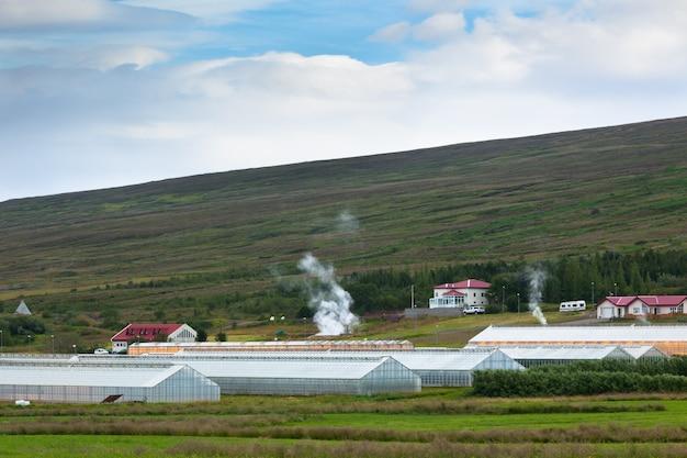 Estufas geotérmicas no norte da islândia