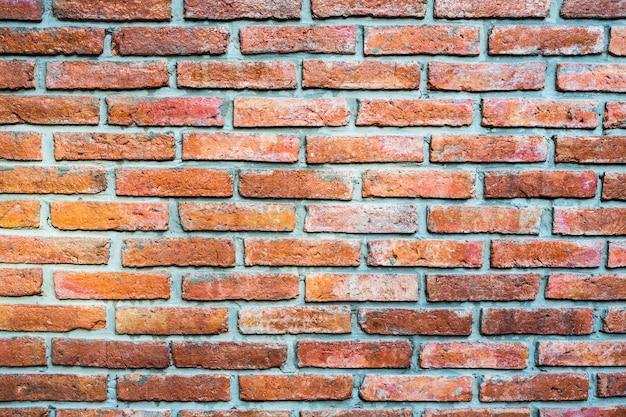 Esvazie o fundo velho da textura da parede de tijolo vermelho.