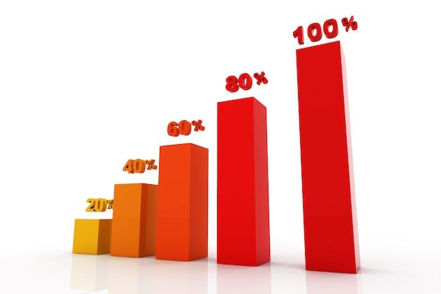 Etapas de negócios modernos para gráficos de opções de gráficos e tabelas de sucesso - ilustração