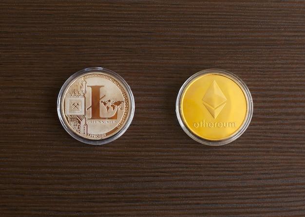 Ethereum, cryptocurrencys digitais de litecoin.