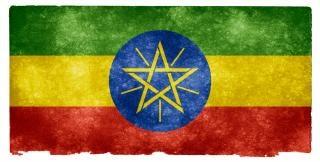 Etiópia grunge bandeira