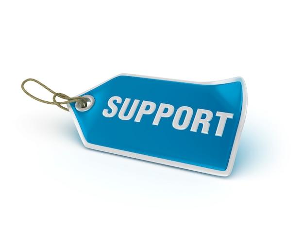 Etiqueta de compra suporte