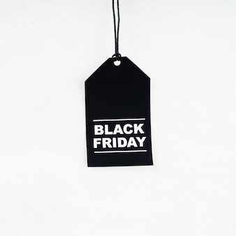 Etiqueta de compras sexta-feira negra