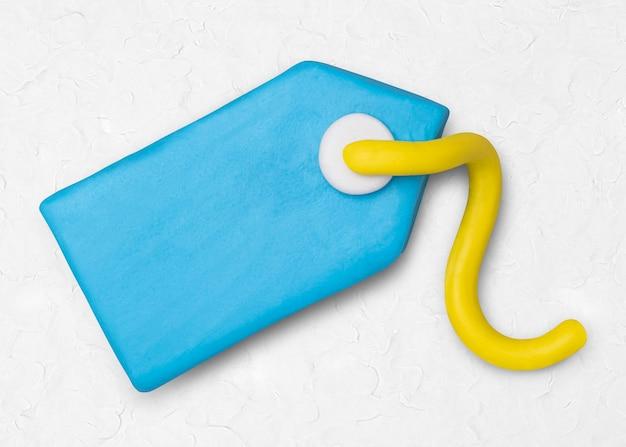 Etiqueta de preço ícone de argila fofo marketing artesanal gráfico de artesanato criativo