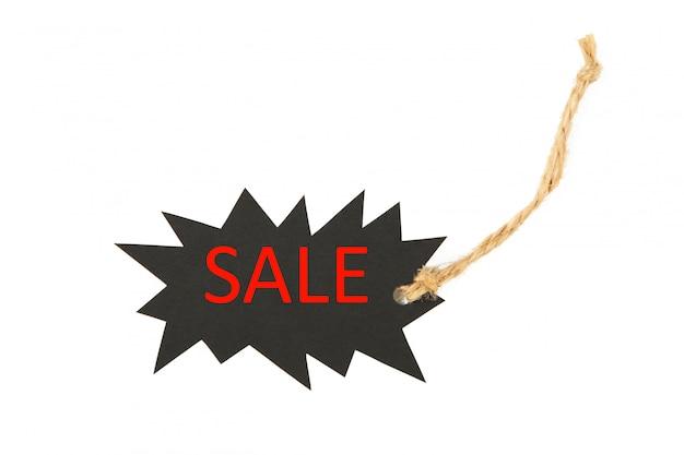 Etiqueta de venda preto isolada no branco. sexta-feira preta