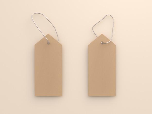 Etiqueta do ofício de papel na rendição 3d creme macia