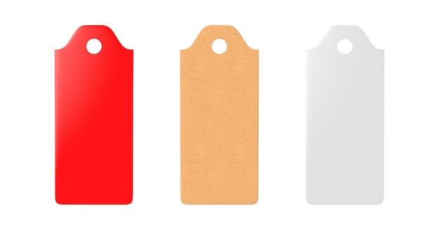 Etiqueta em branco ligada etiqueta de preço endereço etiqueta de venda