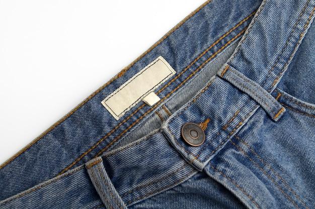 Etiqueta jeans azul