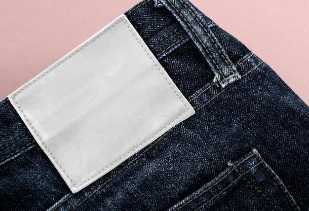 Etiqueta jeans com espaço de cópia