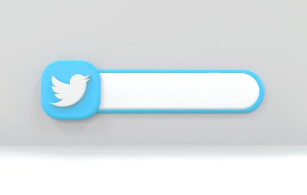 Etiqueta twitte de fundo