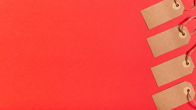 Etiquetas de preço em branco com espaço de cópia