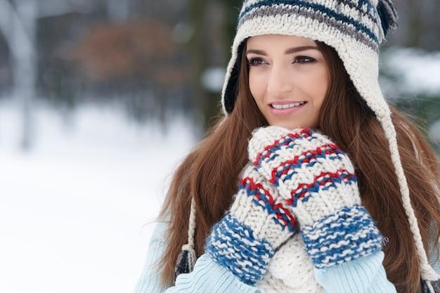 Eu amo a primeira nevasca