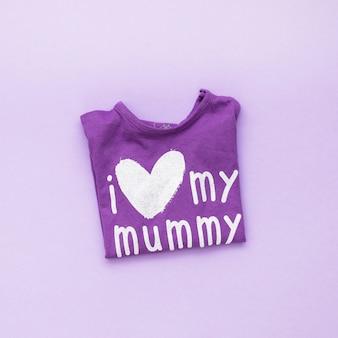 Eu amo minha inscrição da mamã no t-shirt