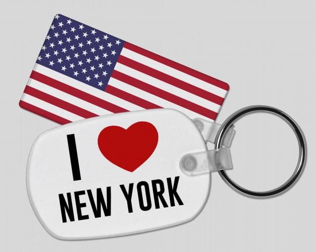 Eu amo new york keyring - férias e férias