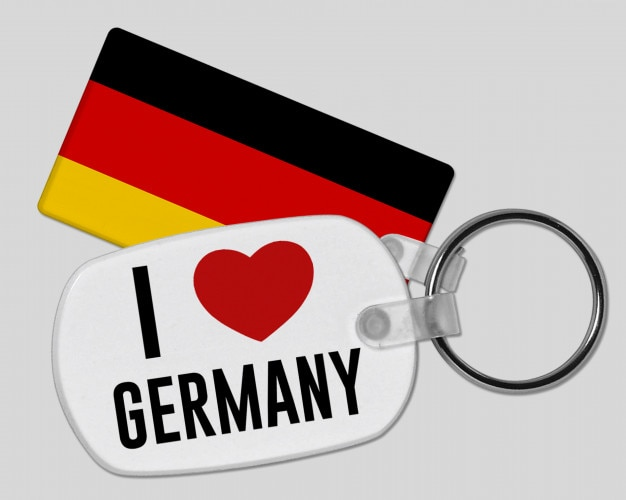 Eu amo o chaveiro de alemanha - férias e férias