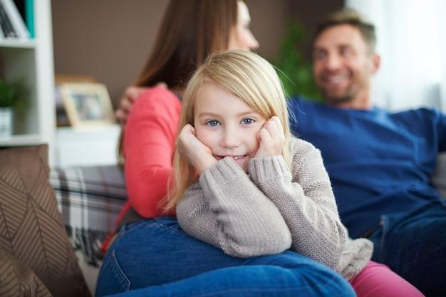 Eu amo o tempo com a família porque eles estão pensando apenas em mim