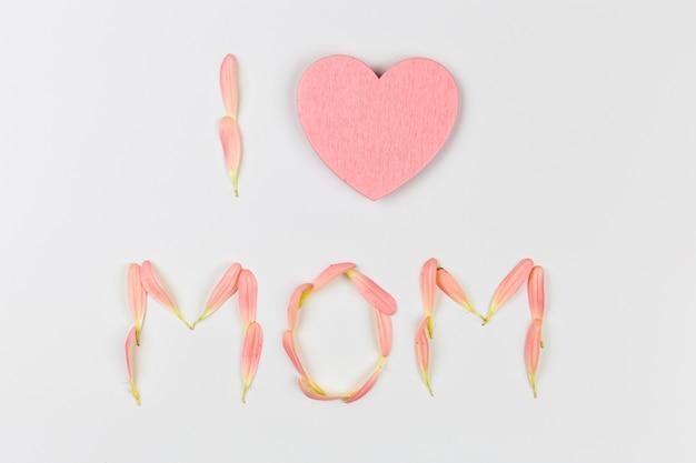 Eu amo palavras mãe de pétalas