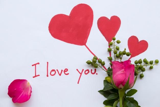 Eu te amo a letra do cartão de mensagem