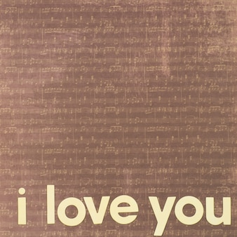 Eu te amo com notas musicais