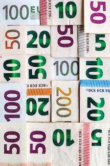 Euro diferente fatura dinheiro para o fundo