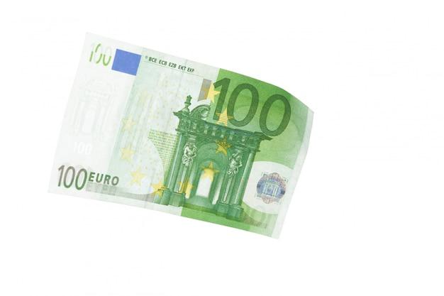 Euro isolado no branco