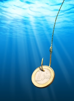 Euro moeda isca