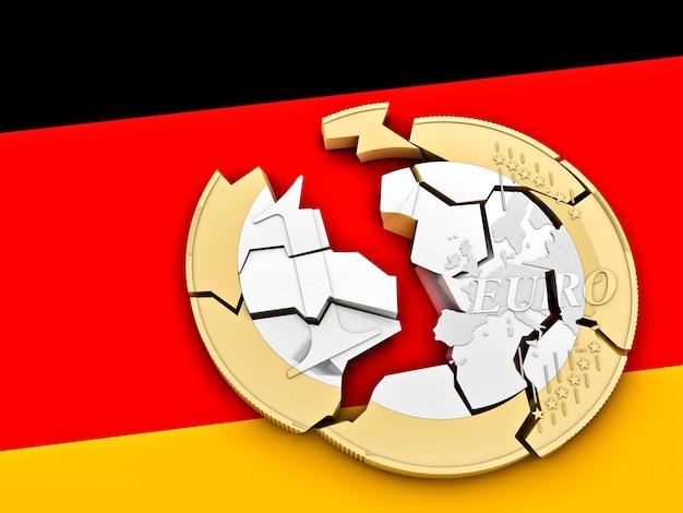 Euro quebrado 3d