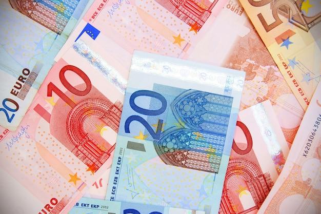 Euros de uma nota de banco
